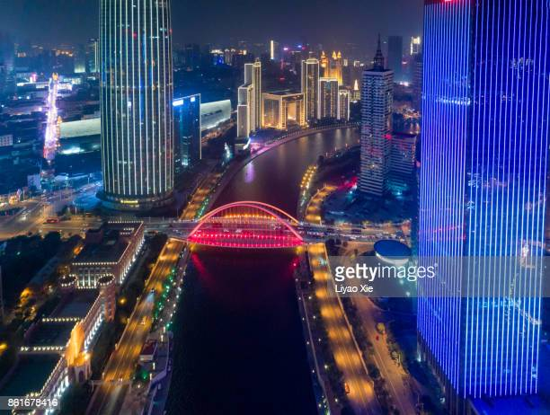 tianjin cityscape - liyao xie stock pictures, royalty-free photos & images
