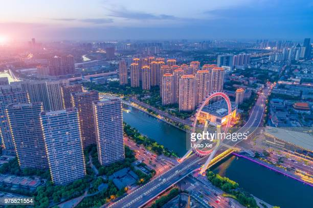 tianjin cityscape - tianjin stock pictures, royalty-free photos & images