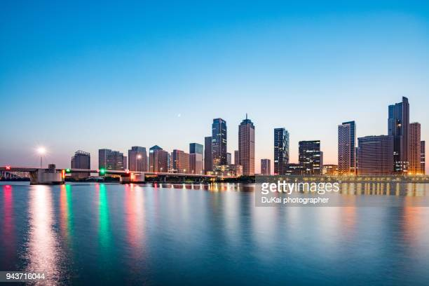 tianjin haihe river night - tianjin stock pictures, royalty-free photos & images