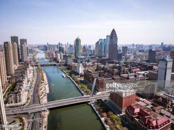 tianjin haihe river - tianjin stock pictures, royalty-free photos & images
