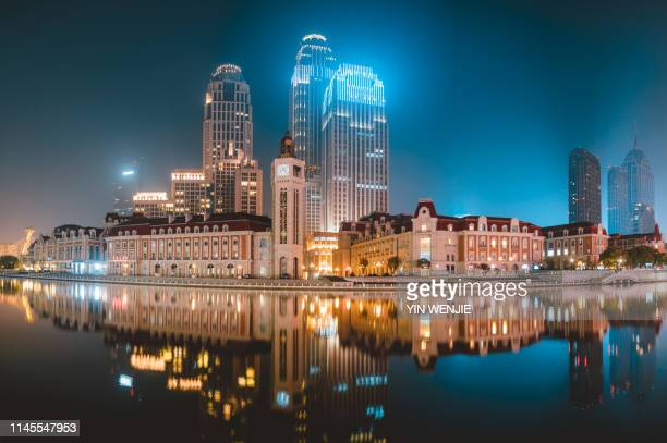 tianjin jinwan square - tianjin stock pictures, royalty-free photos & images