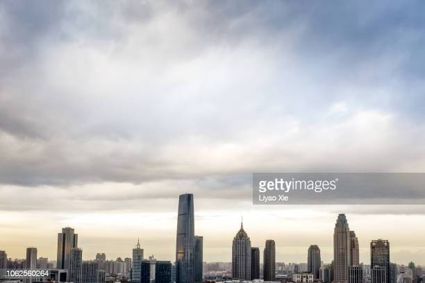 tianjin skyline - liyao xie stock pictures, royalty-free photos & images