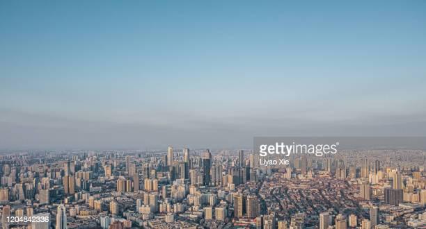 tianjin skyline - liyao xie stockfoto's en -beelden