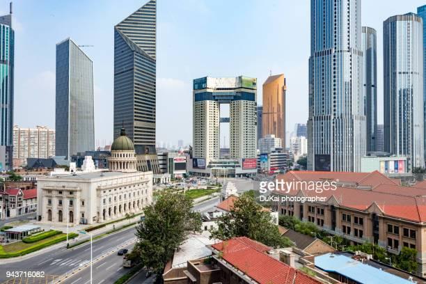 tianjin xiaobailou cbd - tianjin stock pictures, royalty-free photos & images