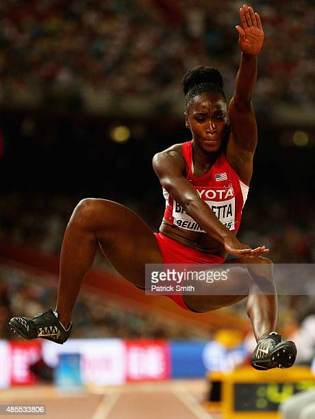 Tianna Bartoletta of the United States competes in the Women's Long Jump final during day seven of the 15th IAAF World Athletics Championships...