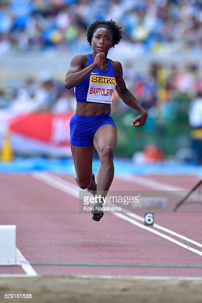 Tianna Bartoletta of the United States competes in the Women's Long Jump during the SEIKO Golden Grand Prix 2016 at Todoroki Stadium on May 8, 2016...