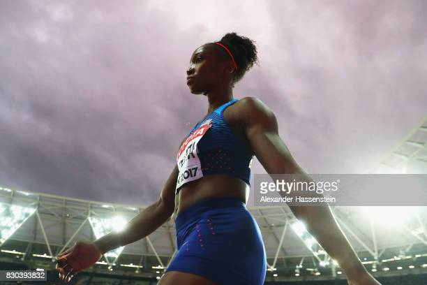 Tianna Bartoletta of the United States competes in the Women's Long Jump final during day eight of the 16th IAAF World Athletics Championships London...