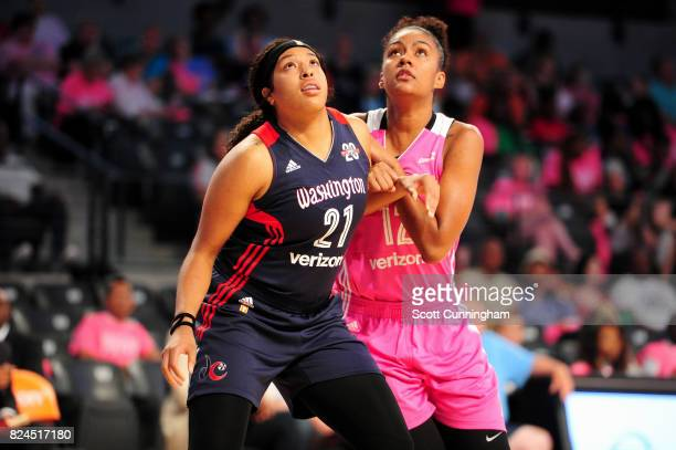 Tianna Hawkins of the Washington Mystics boxes out against the Atlanta Dream on July 30 2017 at Hank McCamish Pavilion in Atlanta Georgia NOTE TO...
