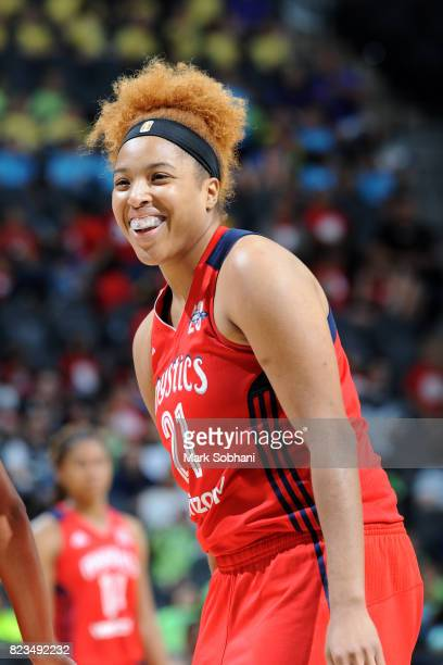 Tianna Hawkins of the Washington Mystics during the game against the San Antonio Stars on July 25 2017 at the ATT Center in San Antonio Texas NOTE TO...