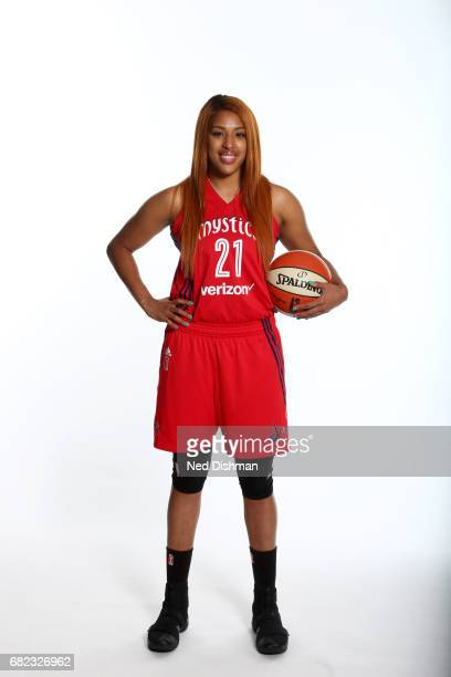 Tianna Hawkins of the Washington Mystics poses for a portrait during Media Day on May 11 2017 at Verizon Center in Washington DC NOTE TO USER User...