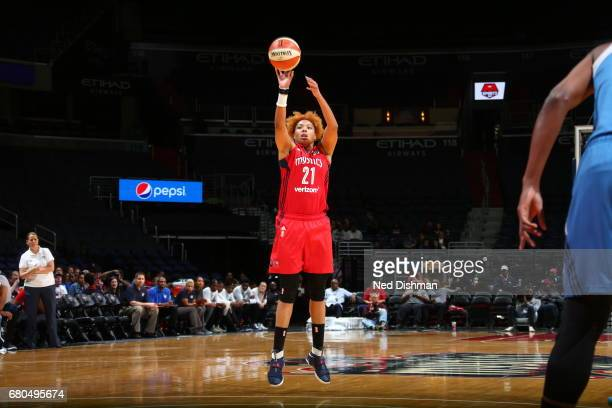 Tianna Hawkins of the Washington Mystics shoots the ball against the Minnesota Lynxon May 8 2017 at Verizon Center in Washington DC NOTE TO USER User...
