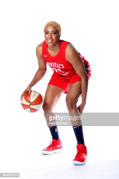 Tianna Hawkins of the Washington Mysticsposes for a head shot during Media Day at CapitalOne Arena on May 2 2018 in Washinton DC NOTE TO USER User...