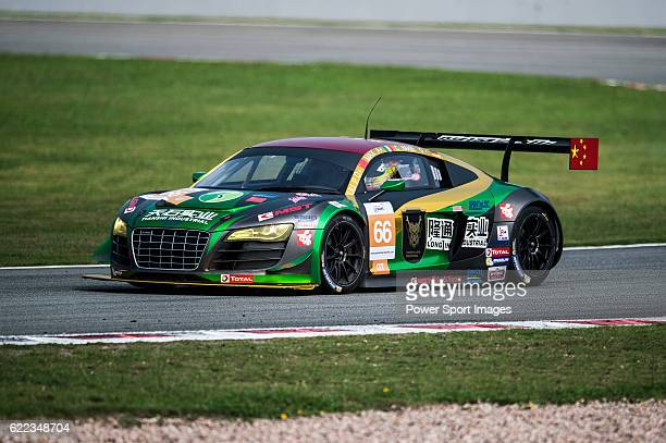 TianShi Racing Team #66 Audi R8 Ultra GT3 driven by Peng Liu Wiser Massimilano and Christopher Haase in action during the 20162017 Asian Le Mans...