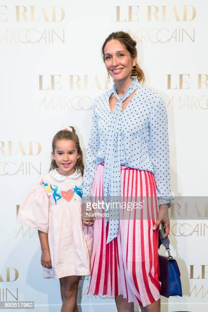 Tiany Kiriloff and her daughter Eloise Kiriloff arrive to attend the Marc Cain Fashion Show during Berlin Fashion Week Spring / Summer 2019 in Berlin...