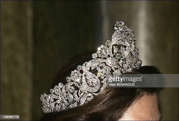 Tiara of Queen Silvia of Sweden in Stockholm, Sweden on April 30, 2006.