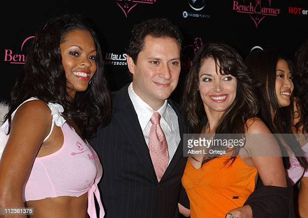 Tiara Provest Brian Wallos and Devin DeVasquez during Bench Warmer Trading Cards Celebrates 2004 Fall Fantasy Series at Bliss in Los Angeles...