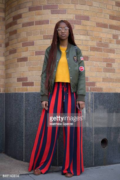 Tiara Vonn is seen attending Son Jung Wan during New York Fashion Week wearing Forever 21 HM Tommy Hilfiger on September 9 2017 in New York City