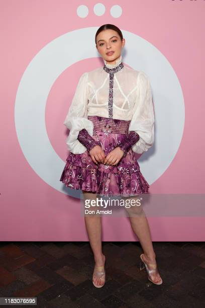 Tiarnie Coupland attends the Pandora Me Party at Cargo Hall at the Overseas Passenger Terminal on October 24 2019 in Sydney Australia