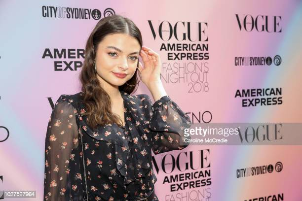 Tiarnie Coupland during Vogue American Express Fashion's Night Out on September 6 2018 in Sydney Australia