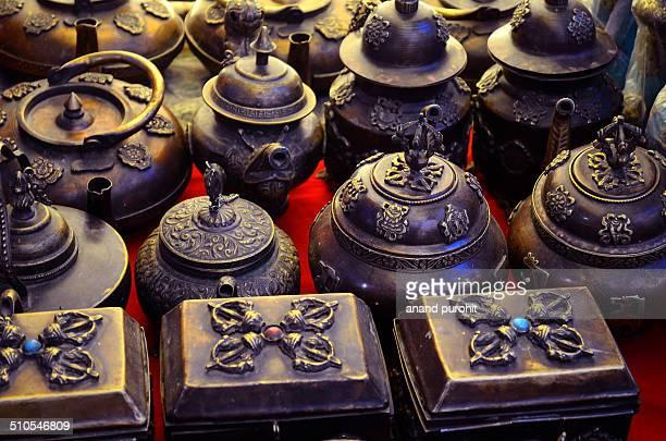 Tibatan Antiques sale at Mcleodganj, dharamshala, Himachal Pradesh, India