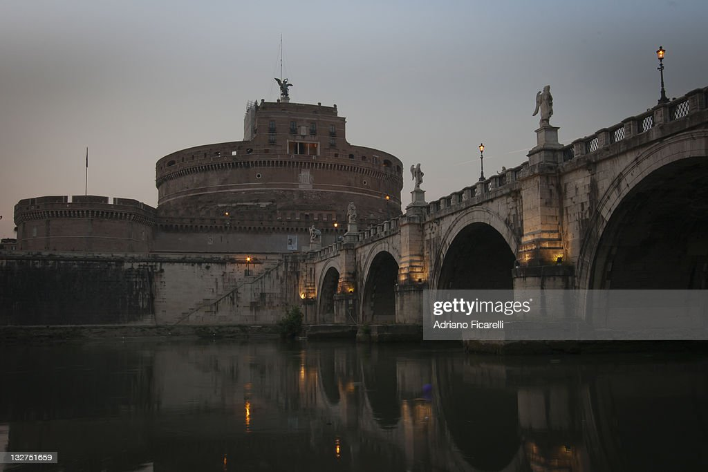 Tiber, bridge and Castel Sant'Angelo : Foto stock