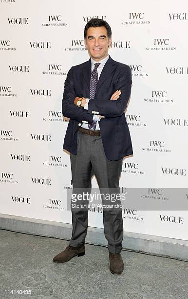 Tiberio Timperi attends Vogue and IWC present 'Peter Lindbergh's Portofino' at 10 Corso Como on May 12 2011 in Milan Italy