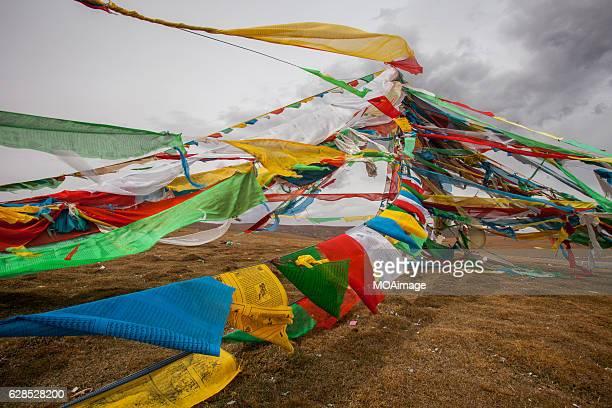 Tibet Buddhist Prayer Flags