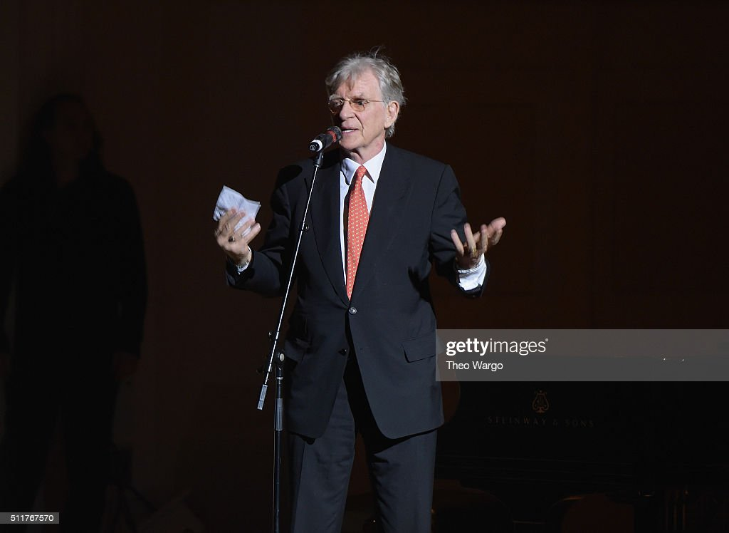 Tibet House US President Dr. Robert A.F. Thurman speaks onstage at the 26th Annual Tibet House U.S. benefit concert at Carnegie Hall on February 22, 2016 in New York City.