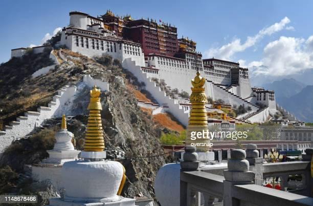 tibet - lhasa stockfoto's en -beelden