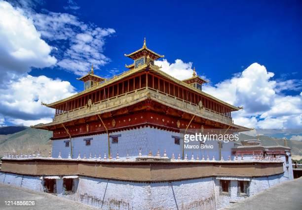 tibet. samye monastery - marco brivio stock pictures, royalty-free photos & images