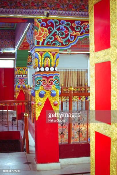 Tibetan Buddhist Architecture -  Kalachakra Temple, Dharamsala, Mcleodganj (India)
