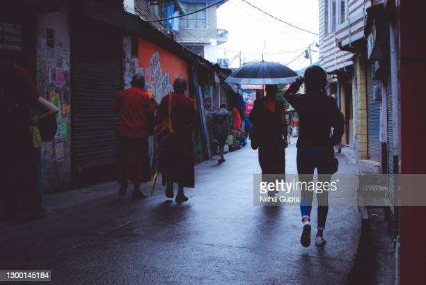 tibetan buddhist monks - mcleod ganj, dharamshala, himachal pradesh, india - neha gupta stock pictures, royalty-free photos & images