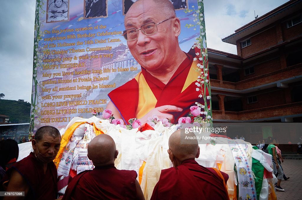 Celebrating 80th birthday of the 14th Dalai Lama in Nepal : Nachrichtenfoto