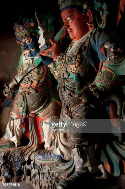 Tibetan deities inside Pelkhor Chode Temple Complex Gyantse Tibet China