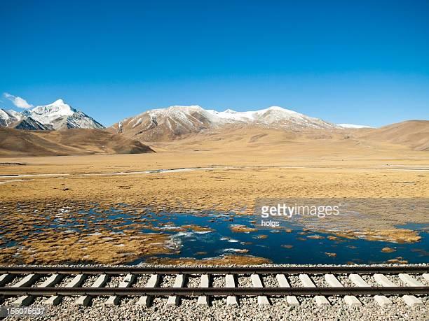 tibetan landscape - lhasa stockfoto's en -beelden