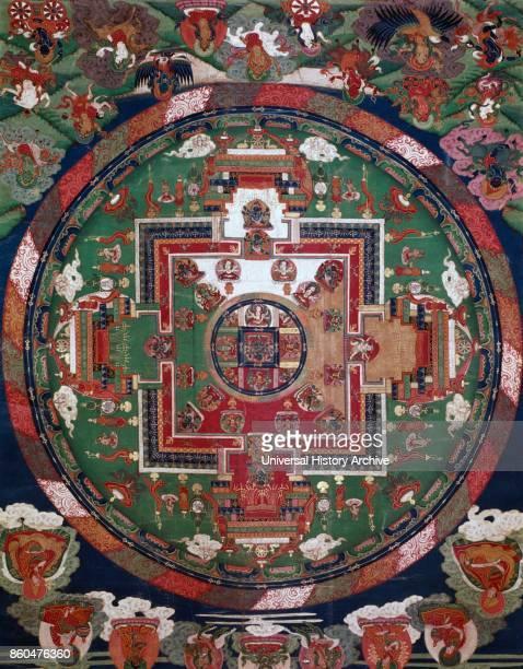 Tibetan Mandala 18th century or earlier, Musee Guimet Paris.