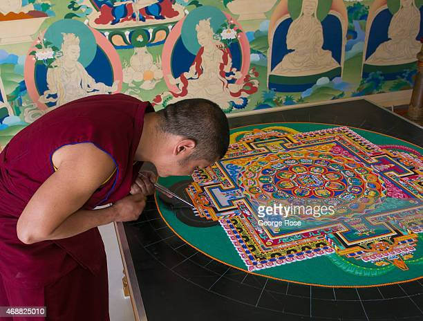 Tibetan monk creates a sand painting at The Barlow on March 14 in Sebastopol California Despite record breaking December rains the weather pattern...