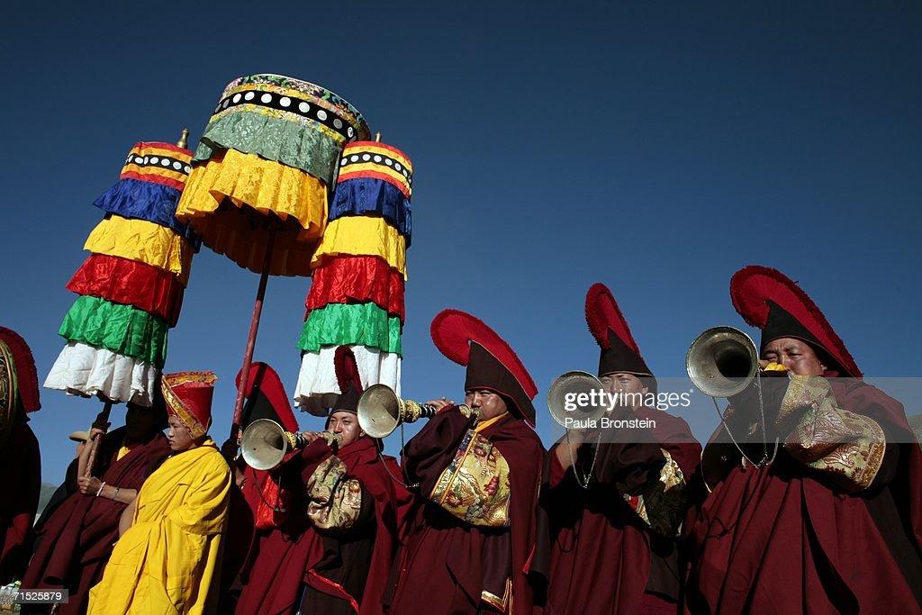 Tibetan Buddhists In China's Remote Qinghai Province Thrive : News Photo