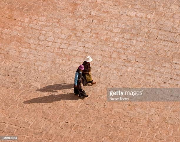 Tibetan Pilgrim women in Lhasa Tibet
