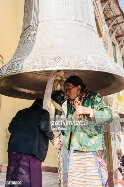 tibetan pilgrims - dafos stock photos and pictures