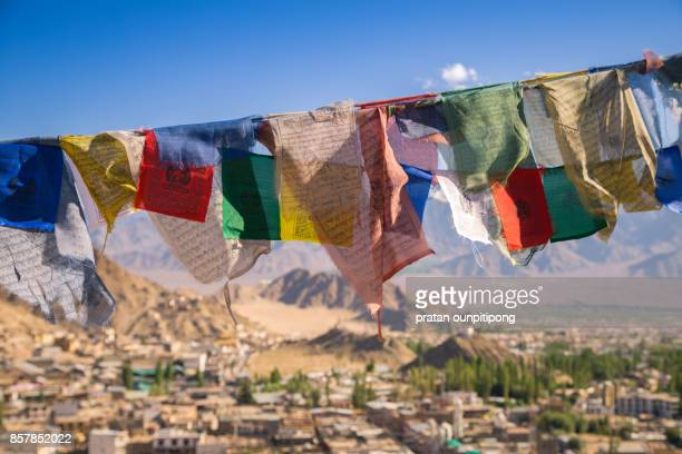 tibetan prayer flag - kashmir flag stock pictures, royalty-free photos & images