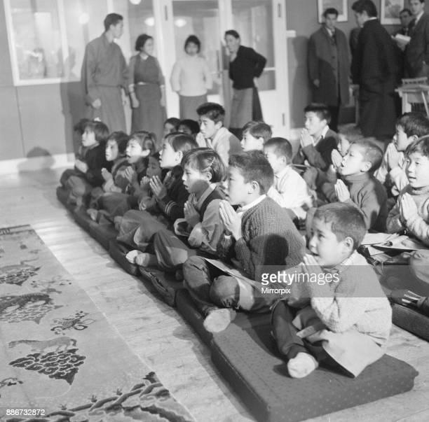 Tibetan Refugee Children at Pestalozzi Village for Children in Sedlescombe East Sussex 7th March 1963 Our Picture Shows Children participate in...