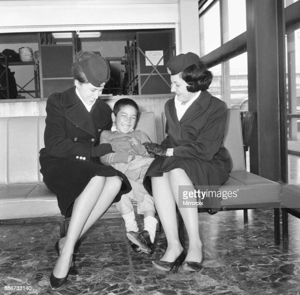 21 Tibetan Refugee Children land at London Heathrow Airport Tuesday 26th February 1963 A BOAC Airliner brings the thirteen boys and eight girls to...