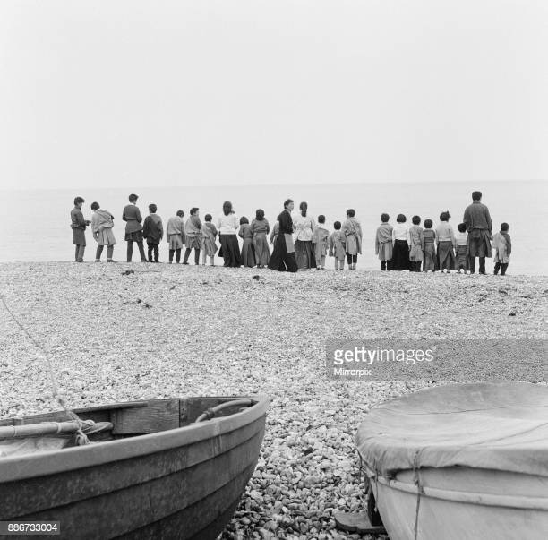Tibetan Refugee Children now living at Pestalozzi Village for Children in Sedlescombe East Sussex enjoy a day out at the Seaside visiting St Leonards...