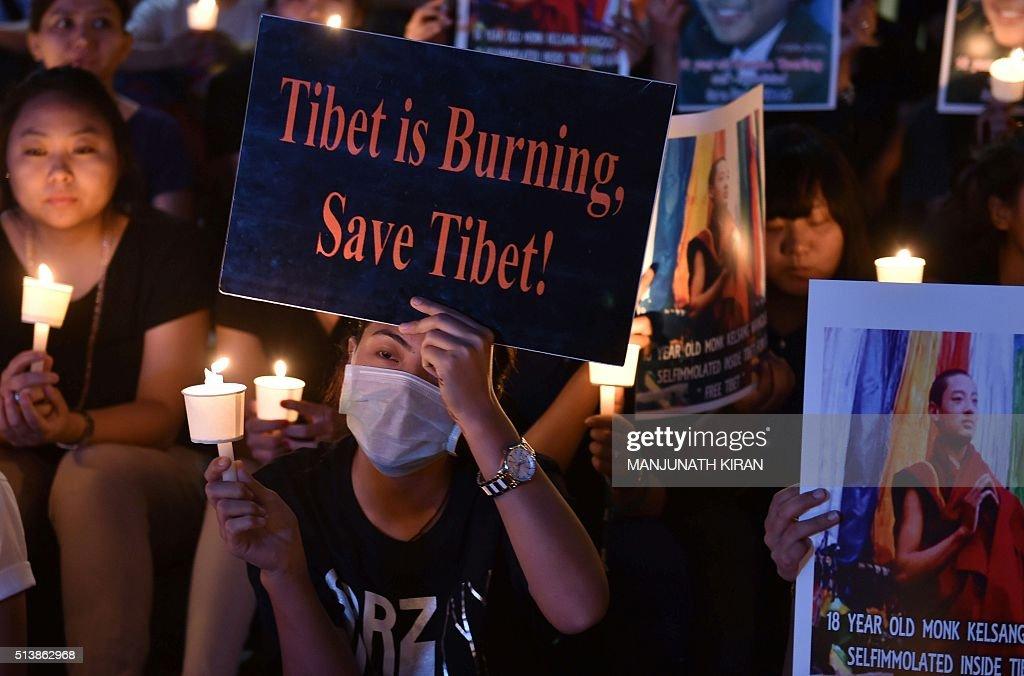 INDIA-CHINA-TIBET-POLITICS : News Photo