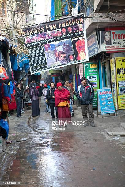 Tibetan refugees in New Delhi, India