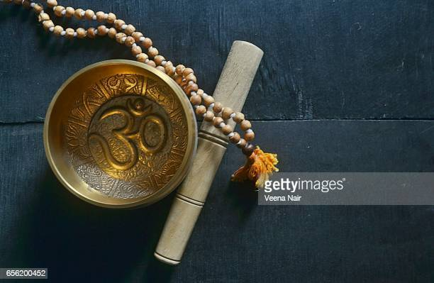 Tibetan Singing Bowl with Rosary beads