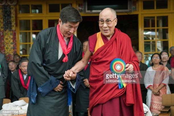 Tibetan spiritual leader His Holiness the Dalai Lama and the reelected Sikyong Prime Minister of the Central Tibetan Administration Lobsang Sangay...