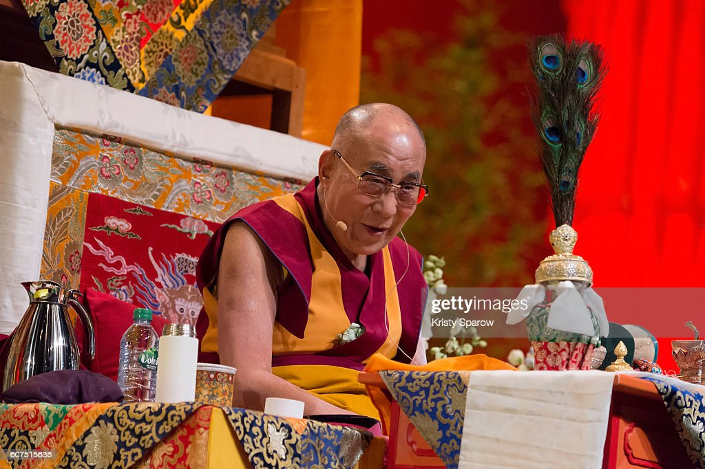 The Dalai Lama On A Two Day Visit In Strasbourg : News Photo