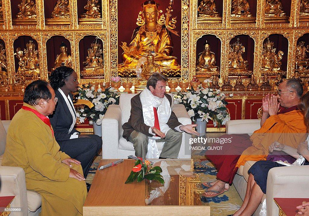Tibetan spiritual leader, the Dalai Lama : News Photo